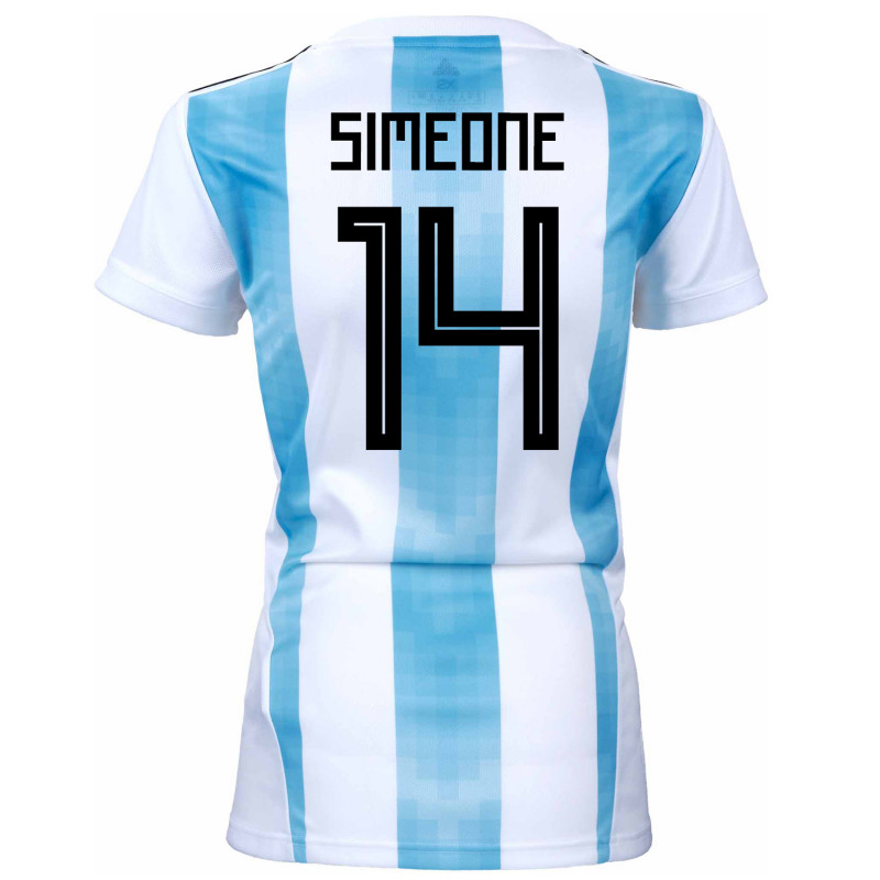 5dd5e6726 Argentina Official Women s Home Soccer Jersey World Cup Russia 2018 Simeone   14