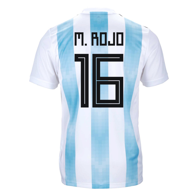 071d7fda9 Argentina Official Men s Home Soccer Jersey World Cup Russia 2018 M. Rojo   16