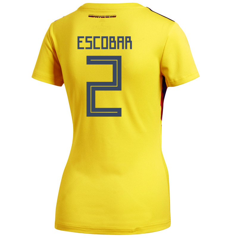 7eef2437111 Colombia Official Women s Home Soccer Jersey World Cup Russia 2018 Escobar   2