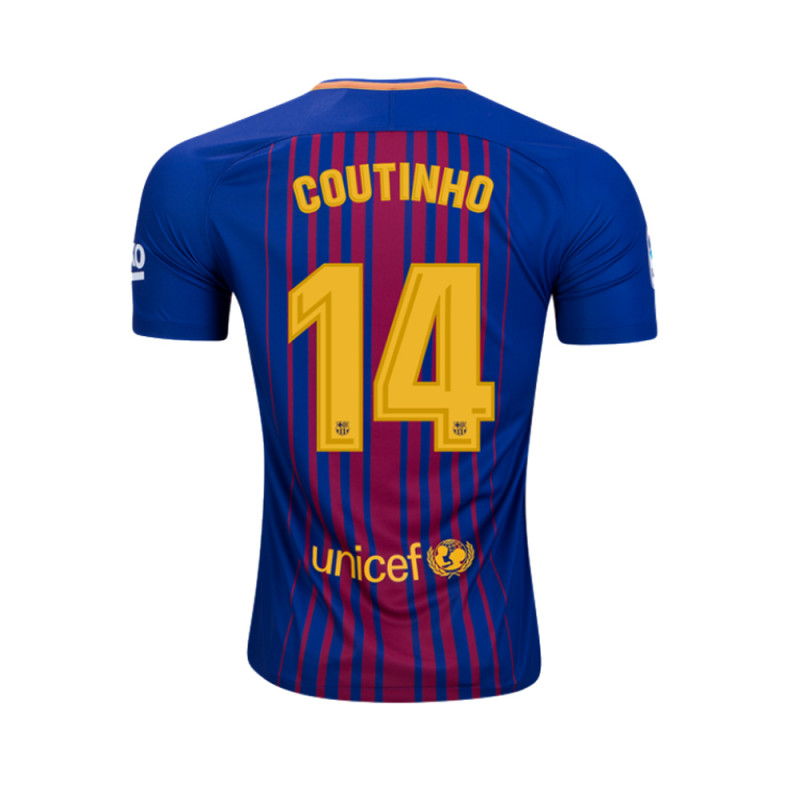 63841df4b Philippe Coutinho  14 Barcelona Men s Home Soccer Jersey 2017   2018