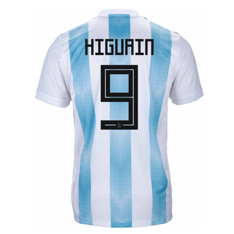 2e08c1766 Argentina Official Men s Home Soccer Jersey World Cup Russia 2018 Higuain  9
