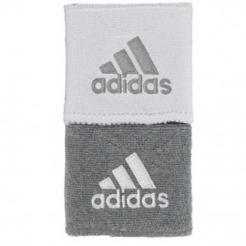 ADIDAS REVERSIBLE WRISTBAND GREY/WHITE