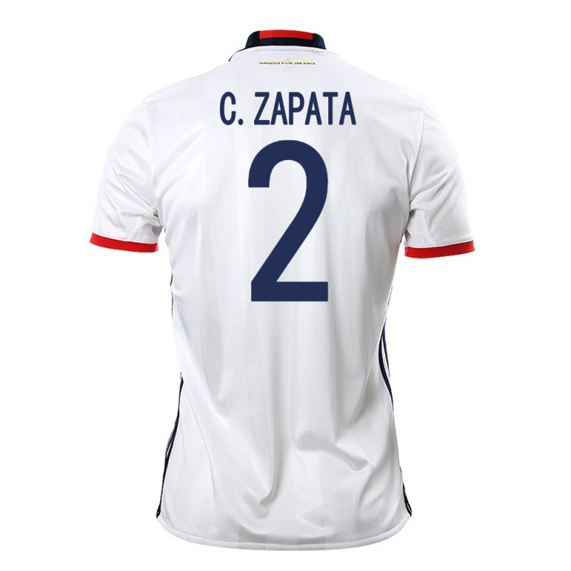 COLOMBIA HOME MEN'S JERSEY 2015 C. ZAPATA #2