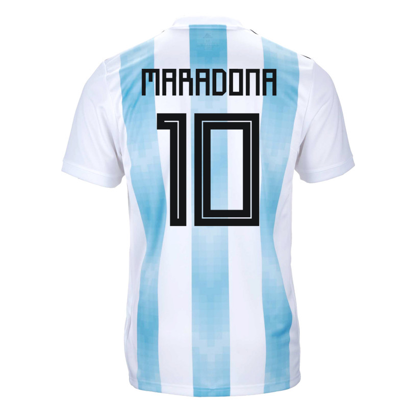 506364bdf Argentina Official Youth Home Soccer Jersey World Cup Russia 2018 Maradona   10