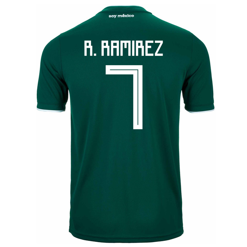 MEXICO YOUTH HOME JERSEY WORLD CUP RUSSIA 2018 (R. RAMIREZ  7) 34393a40b