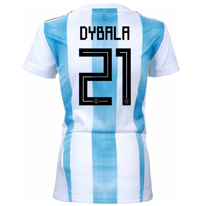 argentina official womens home soccer jersey world cup russia 2018 dybala 21