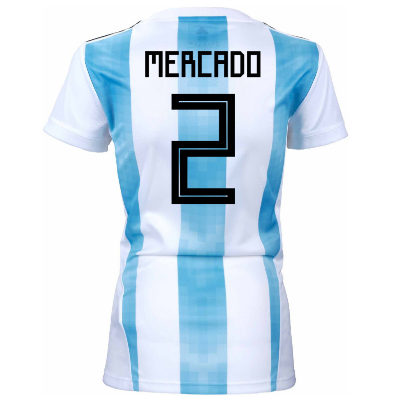Argentina Official Women s Home Soccer Jersey World Cup Russia 2018 Mercado   2 65c267bcc6