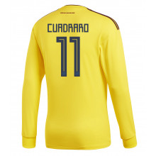 fffa01a8d Colombia Official Men s Home Long Sleeve Soccer Jersey World Cup Russia 2018  Cuadrado  11