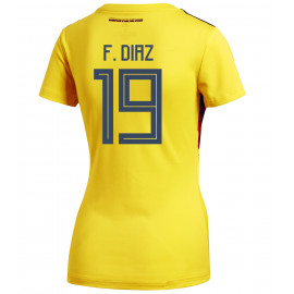54f1e253d Colombia Official Women s Home Soccer Jersey World Cup Russia 2018 F.Diaz   19