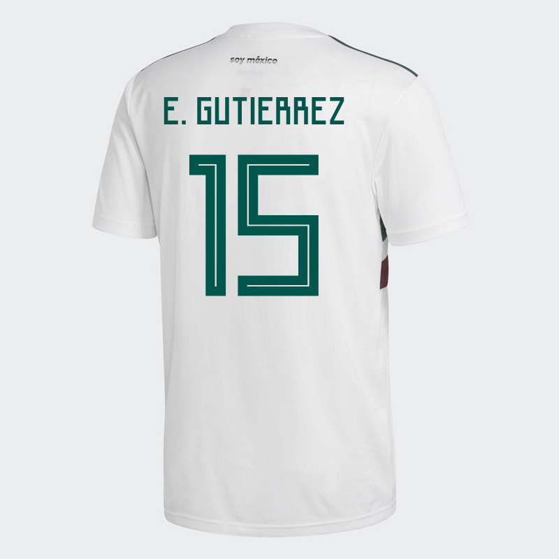MEXICO MEN S AWAY JERSEY WORLD CUP RUSSIA 2018 (E. GUTIERREZ  15) ce006c203