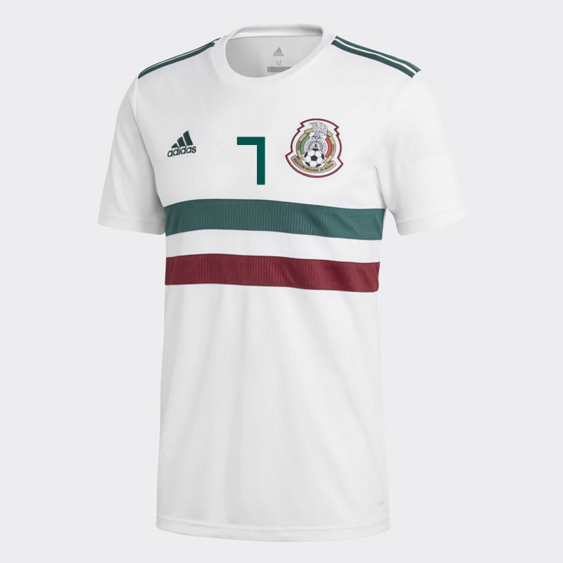 ... MEXICO YOUTH AWAY JERSEY WORLD CUP RUSSIA 2018 (R. RAMIREZ  7) 2fd35326f