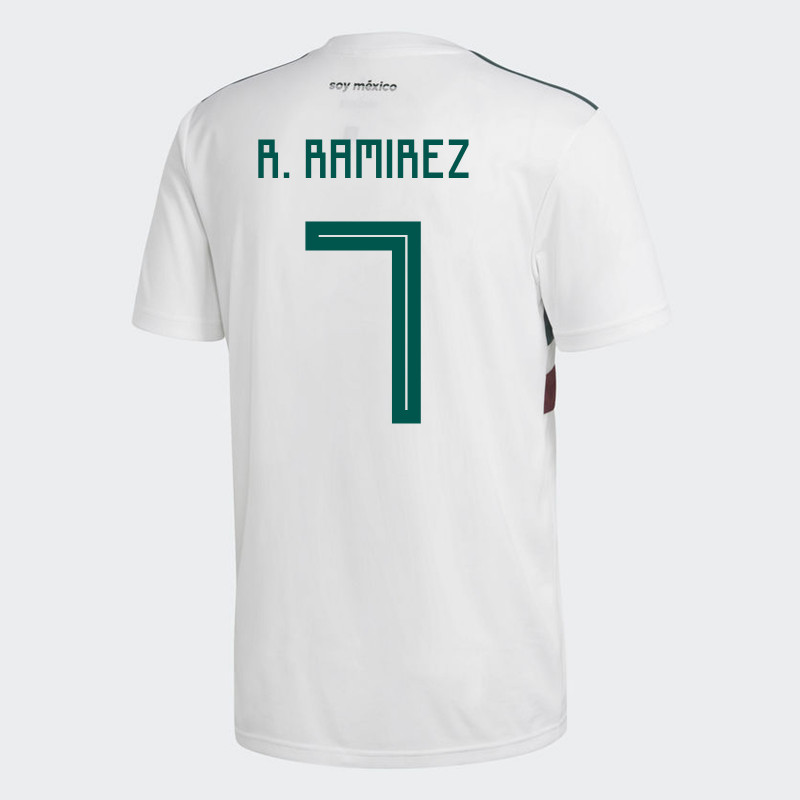 MEXICO YOUTH AWAY JERSEY WORLD CUP RUSSIA 2018 (R. RAMIREZ  7) c7dcb381a