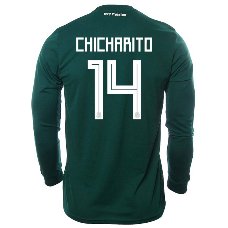 pretty nice d4d55 ab049 MEXICO 2018 HOME MEN'S LONG SLEEVE JERSEY, ADIDAS MEXICO ...