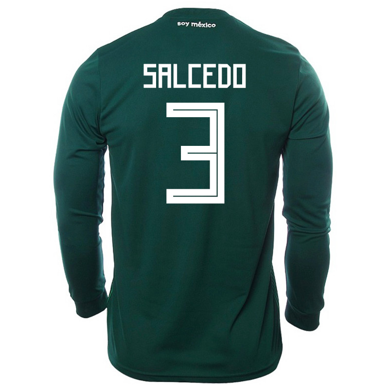 MEXICO MEN'S HOME LONG SLEEVE JERSEY WORLD CUP RUSSIA 2018 (SALCEDO #3)