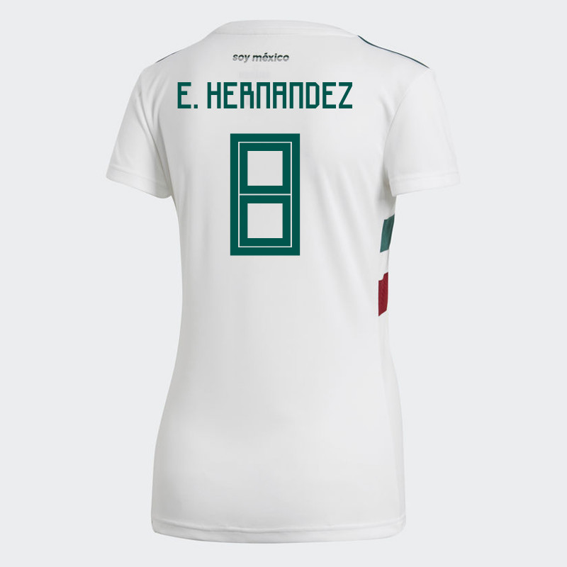 MEXICO WOMEN S AWAY JERSEY WORLD CUP RUSSIA 2018 E. HERNANDEZ  8 beeddcee09