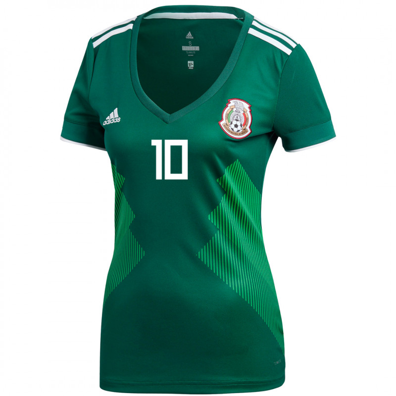 MEXICO WOMEN'S HOME JERSEY WORLD CUP RUSSIA 2018 (G. DOS SANTOS #10)