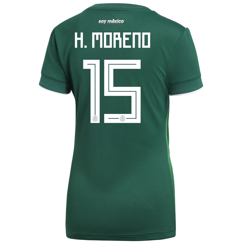 MEXICO WOMEN'S HOME JERSEY WORLD CUP RUSSIA 2018 (H. MORENO #15)