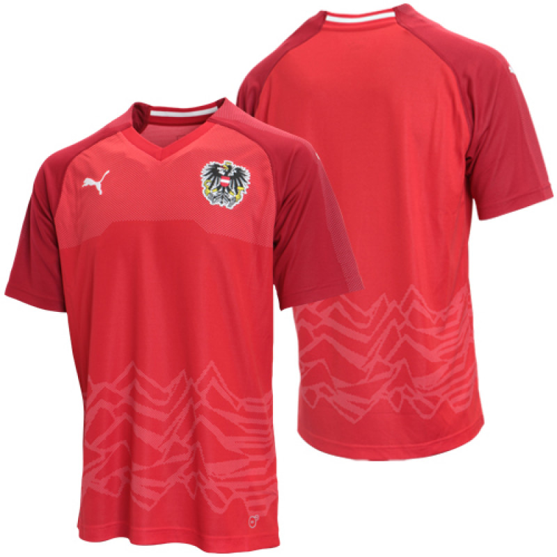 AUSTRIA OFFICIAL MEN'S HOME SOCCER JERSEY WORLD CUP RUSSIA ...