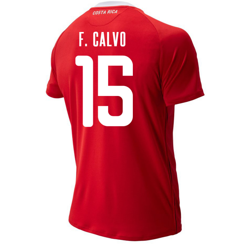 COSTA RICA MEN'S HOME JERSEY WORLD CUP RUSSIA 2018 F. CALVO #15