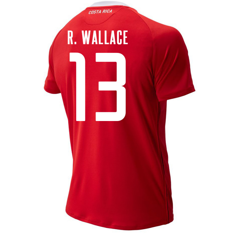 COSTA RICA MEN'S HOME JERSEY WORLD CUP RUSSIA 2018 R. WALLACE #13