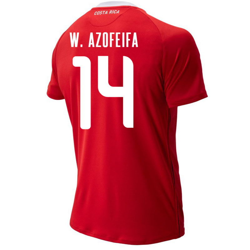 COSTA RICA MEN'S HOME JERSEY WORLD CUP RUSSIA 2018 W. AZOFEIFA #14