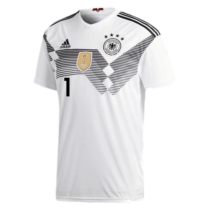 official photos 798d0 ae959 NEUER #1 GERMANY OFFICIAL YOUTH HOME SOCCER JERSEY WORLD CUP ...