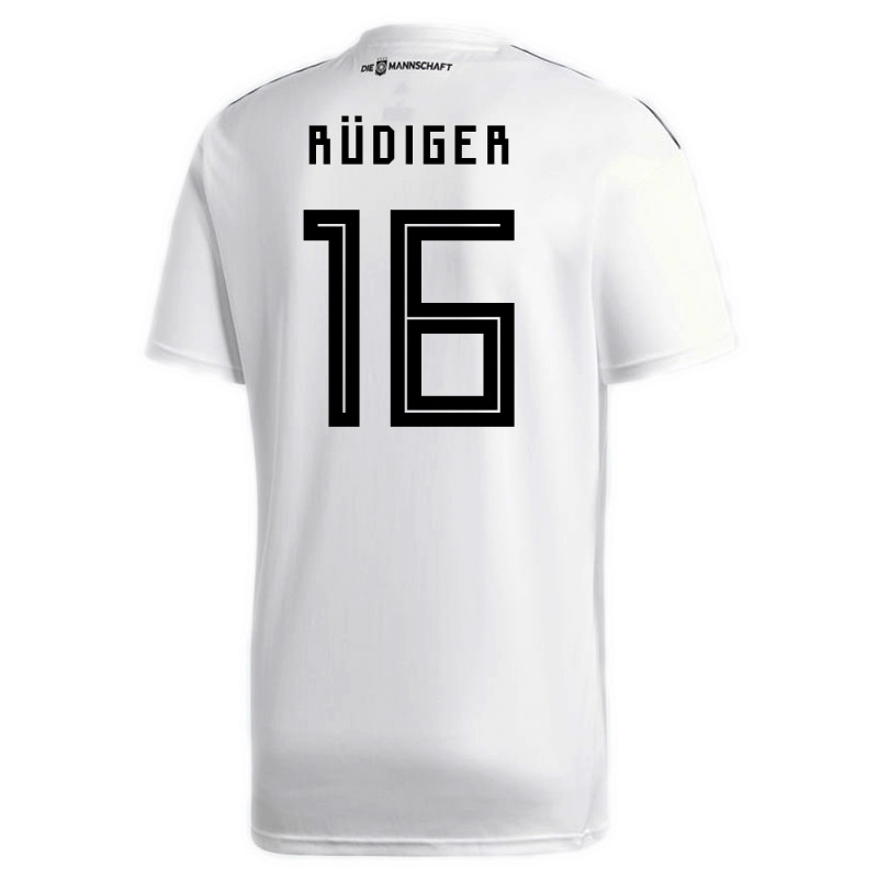low priced 2fa8a 95e30 RUDIGER #16 GERMANY OFFICIAL YOUTH HOME SOCCER JERSEY WORLD ...
