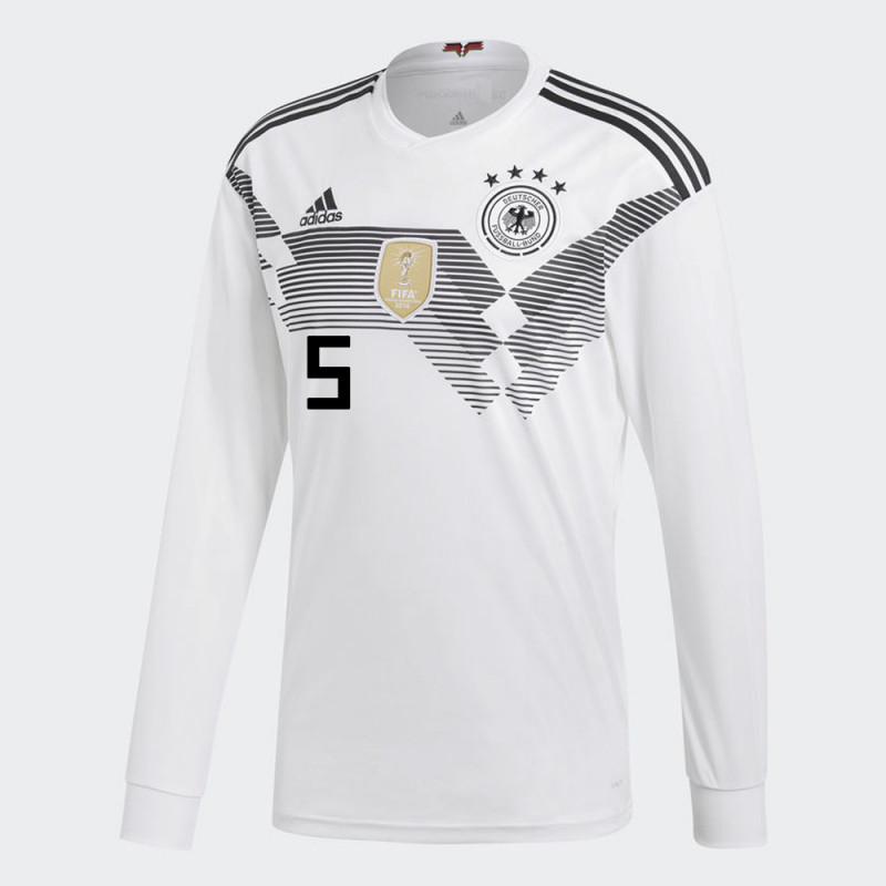 4f45ff02f GERMANY OFFICIAL MEN S HOME LONG SLEEVE SOCCER JERSEY WORLD CUP RUSSIA 2018  BECKENBAUER  5