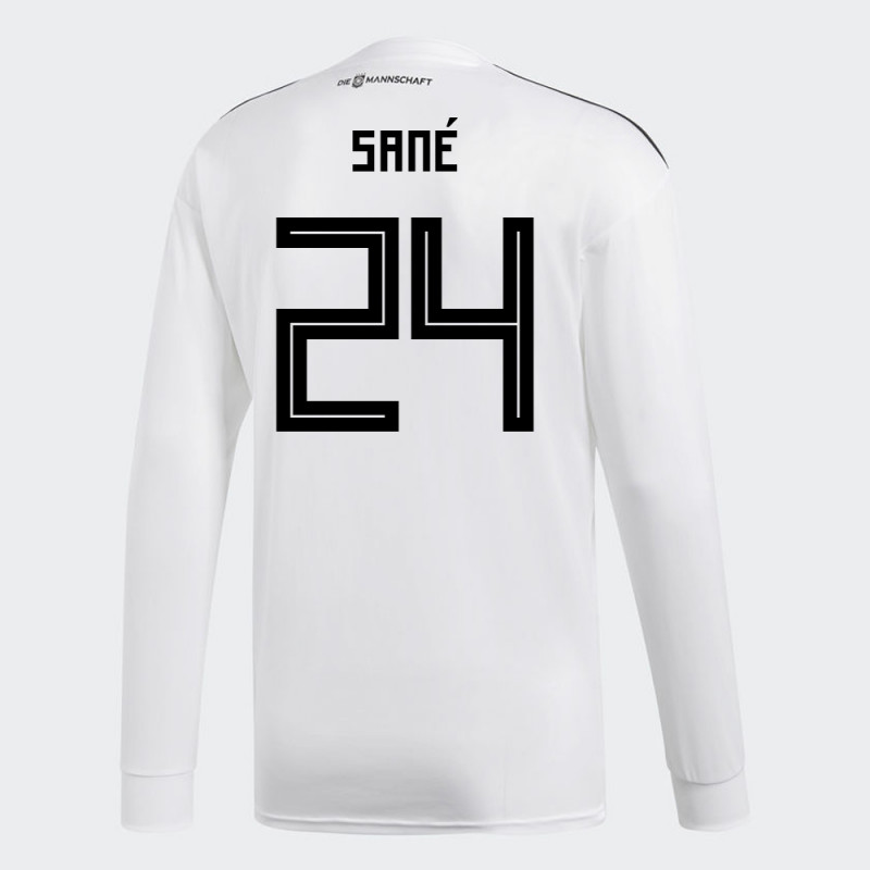 promo code 39f90 b3acd GERMANY OFFICIAL MEN'S HOME LONG SLEEVE SOCCER JERSEY WORLD ...