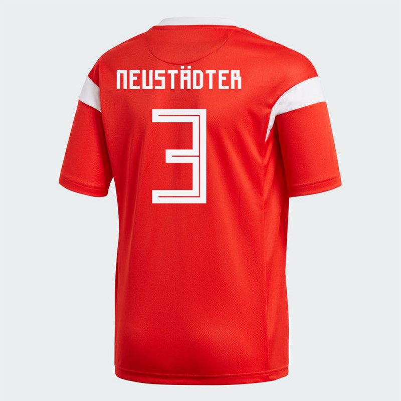 RUSSIA YOUTH HOME JERSEY WORLD CUP RUSSIA 2018 NEUSTADTER #3
