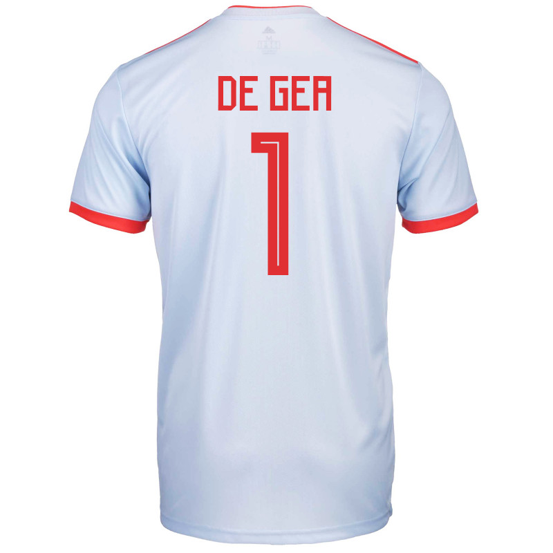 size 40 324bb dbd57 SPAIN YOUTH AWAY JERSEY WORLD CUP RUSSIA 2018 DE GEA #1