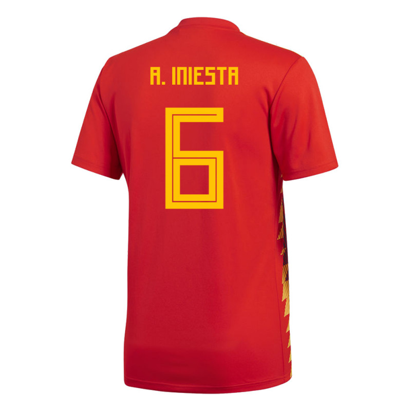 003c3d2088d SPAIN YOUTH HOME JERSEY WORLD CUP RUSSIA 2018 A. INIESTA  6