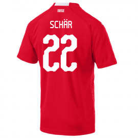 SCHAR #22 SWITZERLAND MEN'S HOME JERSEY WORLD CUP RUSSIA 2018
