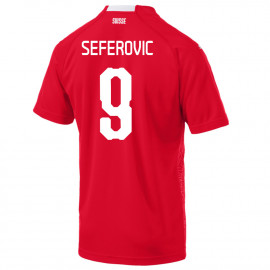 SEFEROVIC #9 SWITZERLAND MEN'S HOME JERSEY WORLD CUP RUSSIA 2018