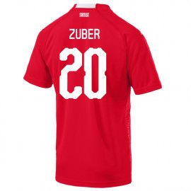 ZUBER #20 SWITZERLAND MEN'S HOME JERSEY WORLD CUP RUSSIA 2018
