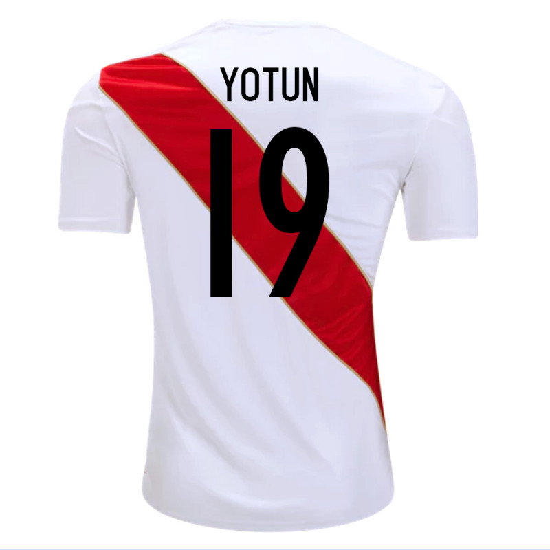 PERU OFFICIAL MEN'S HOME SOCCER JERSEY WORLD CUP RUSSIA 2018 YOTUN #19