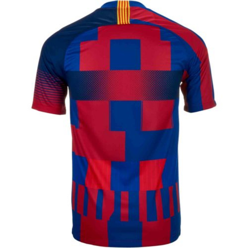 Nike 20th Anniversary FC Barcelona Men's Stadium Jersey (Deep Royal Blue/Noble Red/Tour Yellow)