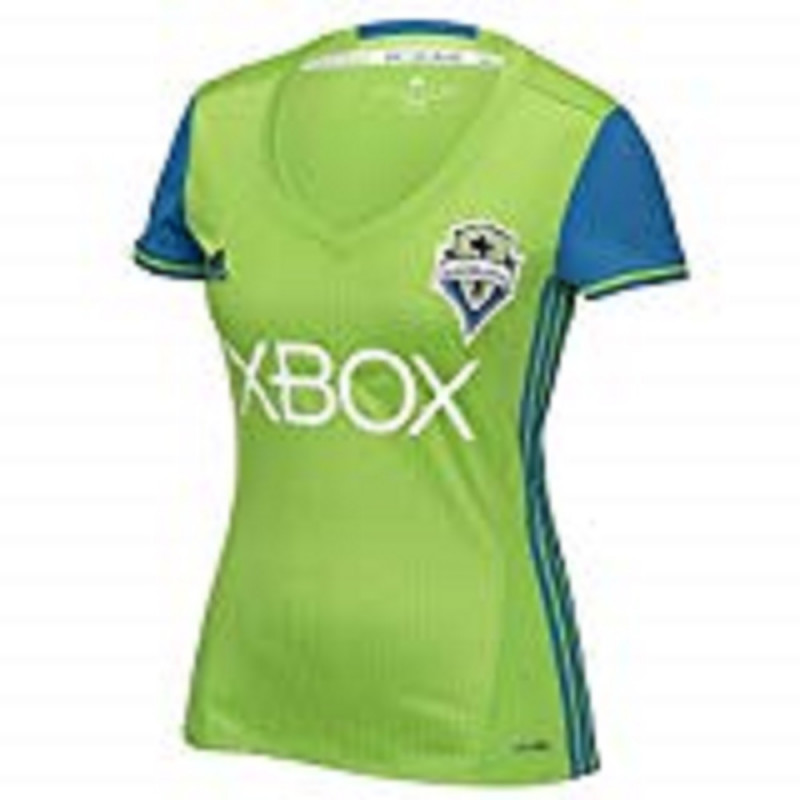 adidas Seattle Sounders Women Home Soccer Jersey- (2017/18)