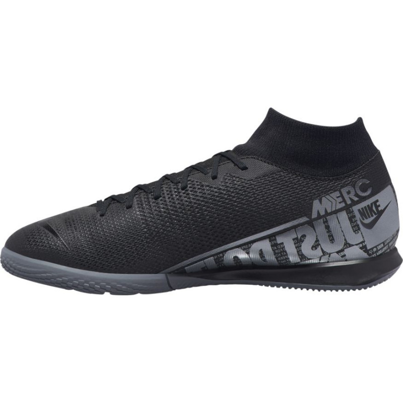 Nike Mercurial Superfly 7 Academy IC Indoor Soccer Shoes- Black/Grey