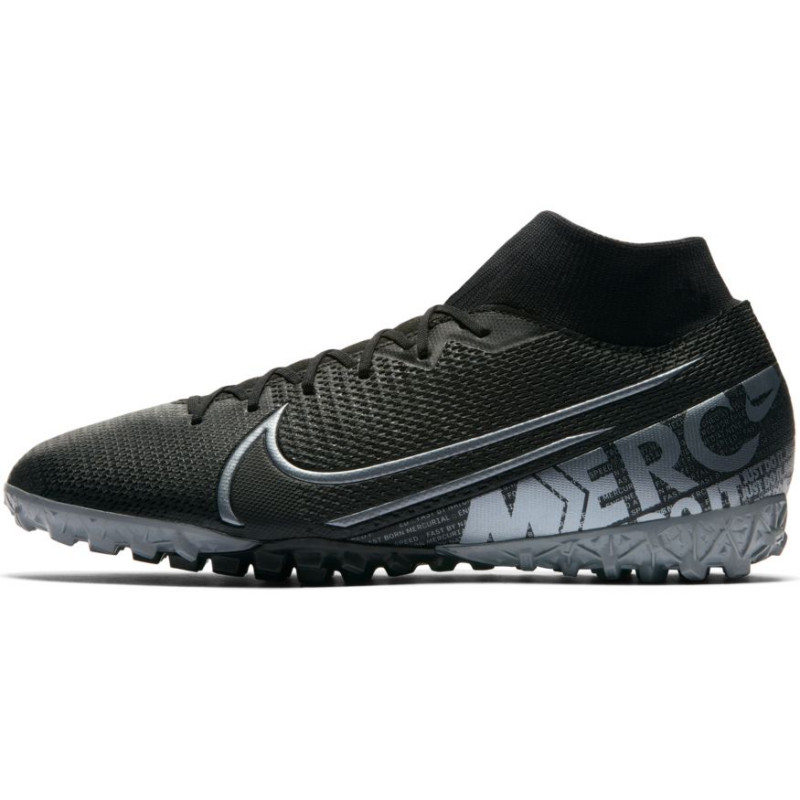 Nike Mercurial Superfly 7 Academy TF Turf Soccer Shoes- Black