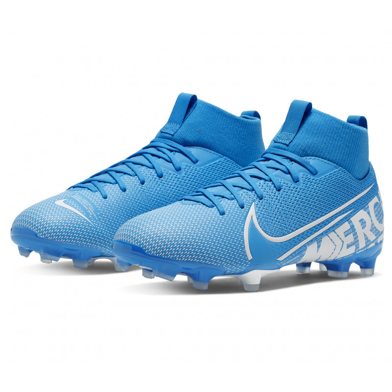 Nike Jr. Mercurial Superfly 7 Academy MG Kids' Multi-Ground Soccer Cleat Kids- Blue/White