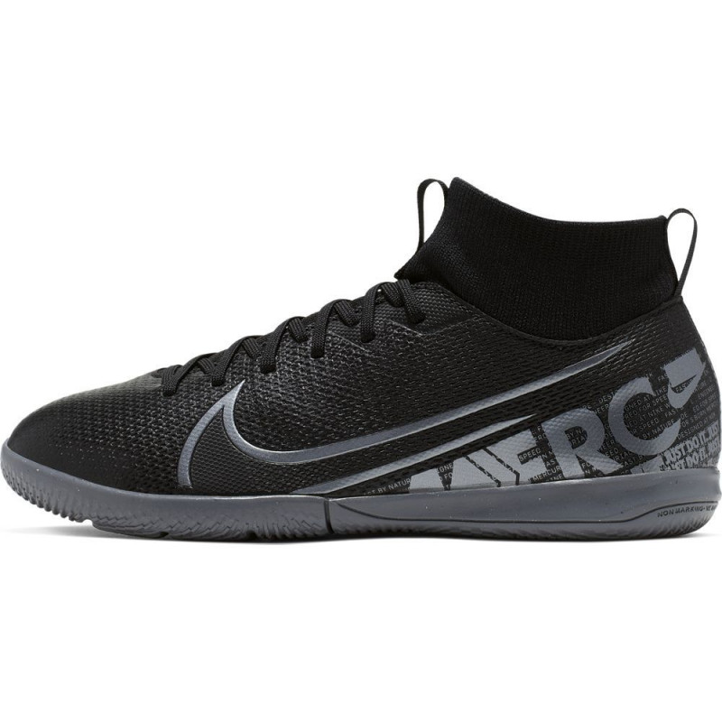 Nike Jr. Mercurial Superfly 7 Academy IC Youth Indoor Soccer Shoes- Black