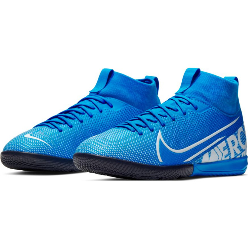 Nike Mercurial Superfly 7 Academy IC Indoor Soccer Shoes- Blue/White