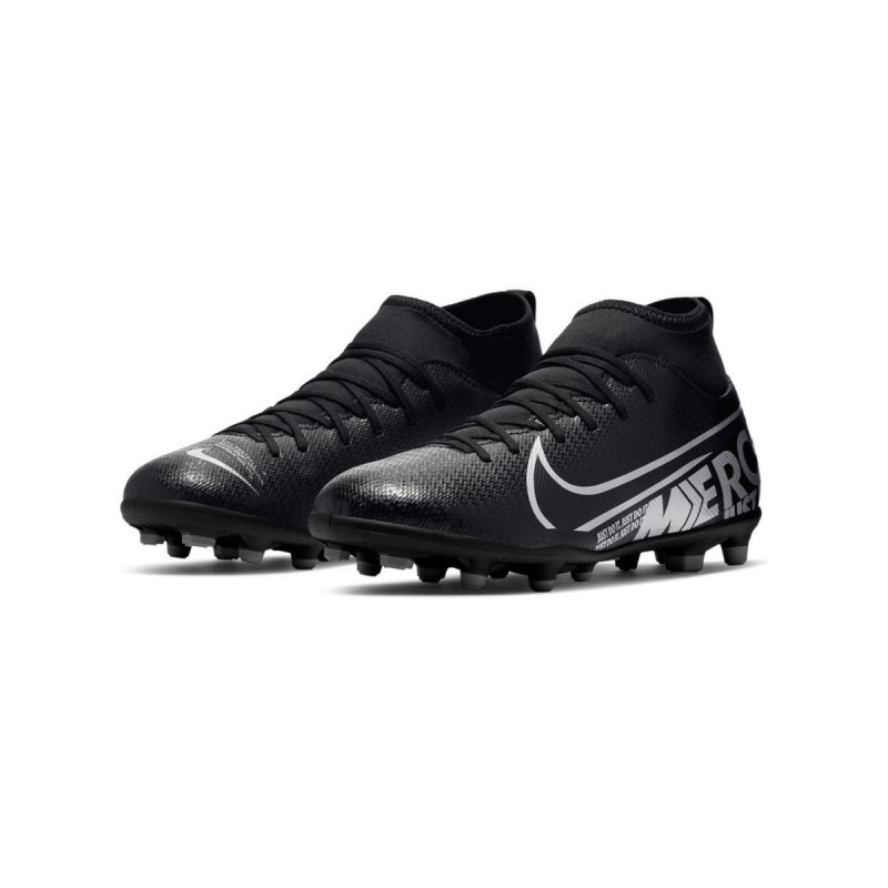 Nike Jr. Mercurial Superfly 7 Club MG Youth Soccer Cleats- Black