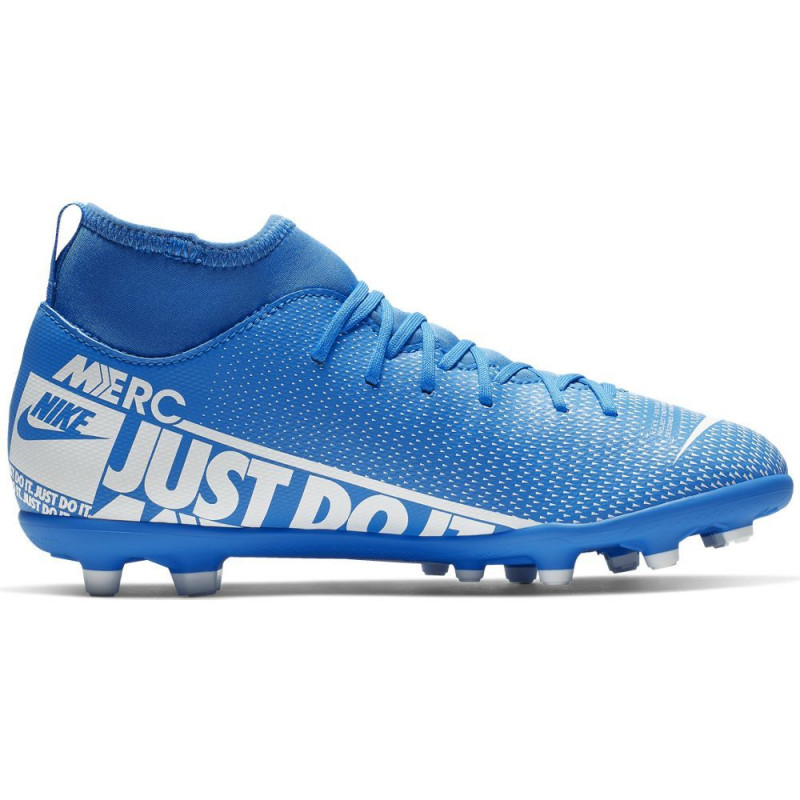 Nike Jr. Mercurial Superfly 7 Club MG Youth Soccer Cleats- Blue/White