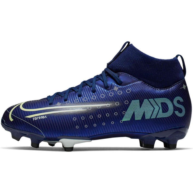 Nike Jr. Mercurial Superfly 7 Academy MDS MG Youth Soccer Cleats- Blue