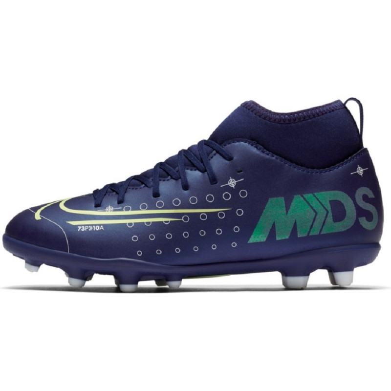 Nike Jr. Mercurial Superfly 7 Club MDS MG Youth Soccer Cleats- Blue