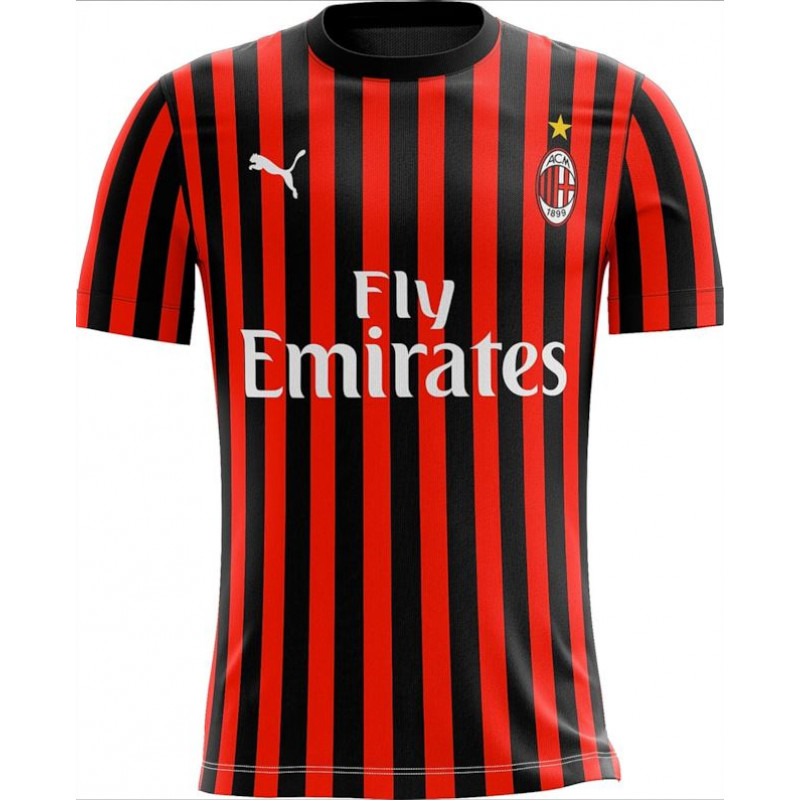 Puma Men's AC Milan Home Jersey 19/20 -Red/Black