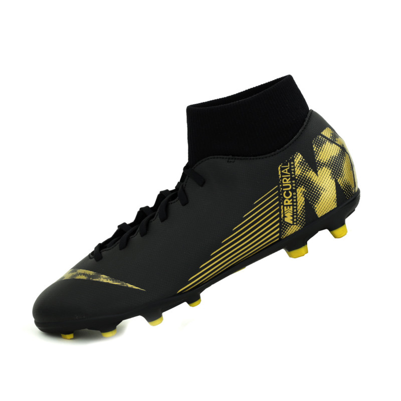 Nike Men's Superfly 6 Club MG Soccer Cleats (Black/Gold)