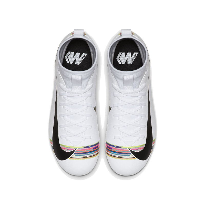 Nike Junior Mercurial Superfly 6 Academy FG-WHITE